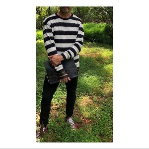 Zara Sweaters - Black and white stripes man sweater